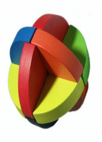 Wooden Puzzle - Luban Ball