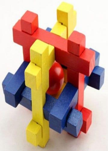 Wooden Puzzle - 14 Column